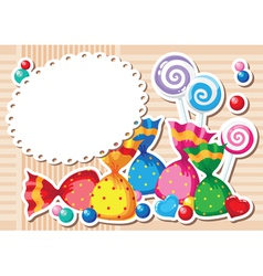 candy sticker background vector image vector image