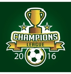 Champion soccer league logo emblem badge graphic vector image