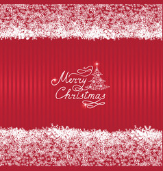 christmas background with new year tree snow and vector image