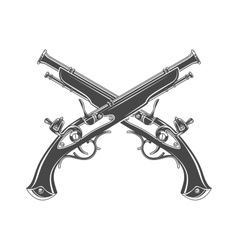 Firelock musket Armoury logo template vector image