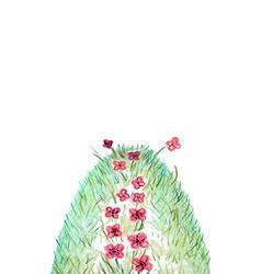 Flower Path vector image