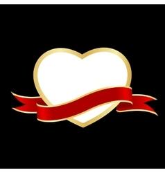 heart frame ribbon vector image vector image