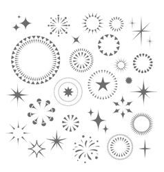 Sparkles and Starbursts set vector image vector image