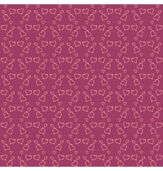 valentine day red seamless background vector image
