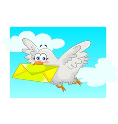homing pigeon vector image