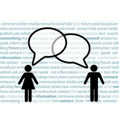people symbol share social network talk bubbles vector image