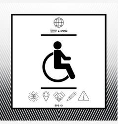 Wheelchair handicap icon vector