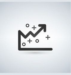 analytics graph line icon outline sign linear vector image
