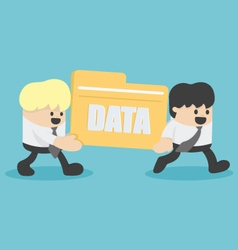 business people transfer Files data vector image vector image