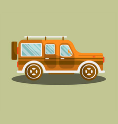 camper bus or camping van flat isolated vector image vector image