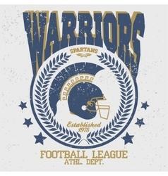 Football t-shirt Spartan Warrior vector image vector image