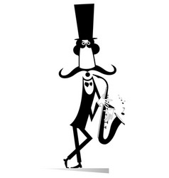 funny in the top gentleman saxophonist isolated vector image