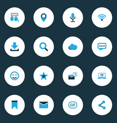 Media colorful icons set collection of seek vector