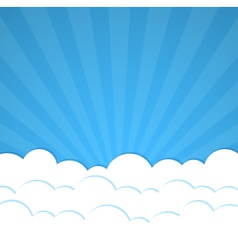 Rays and clouds vector image vector image