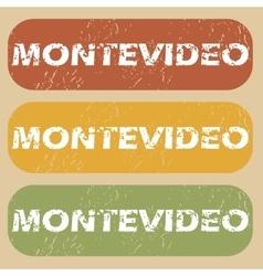 Vintage montevideo stamp set vector