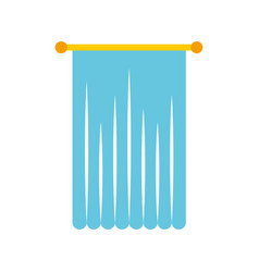 window curtain isolated icon vector image