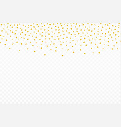 golden confetti festive background with golden vector image