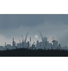 Grey Saint Louis Sunset vector image