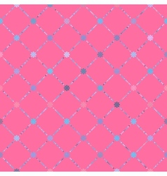 Seamless Simplistic Floral Pattern vector image vector image