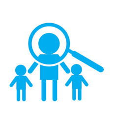 search person icon on white background search vector image vector image