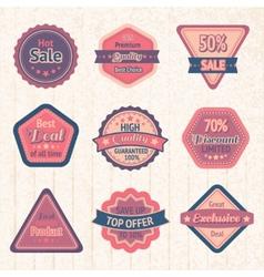 Vintage sale labels and badges set vector image vector image
