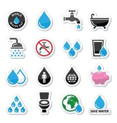 World Water Day icons - ecology green concept vector image vector image