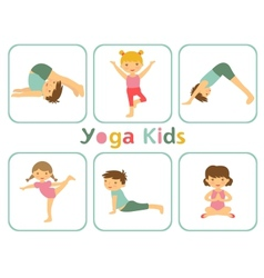 Yoga kids vector