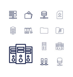 13 archive icons vector