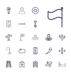 22 direction icons vector