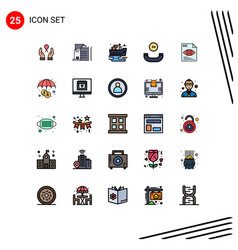25 creative icons modern signs and symbols eye vector