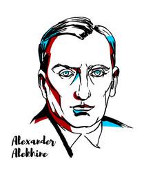 Alexander alekhine portrait vector