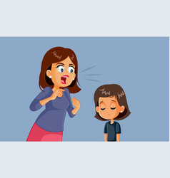 angry mother screaming at her child vector image