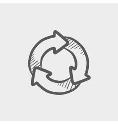 Arrow circle sketch icon vector image