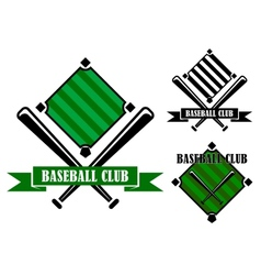 Baseball club emblems or badges vector image