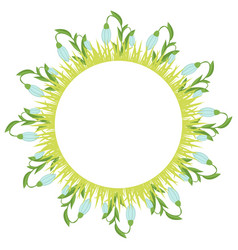 Beautiful easter wreath elegant floral frame hand vector