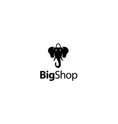 big shop logo design concept vector image
