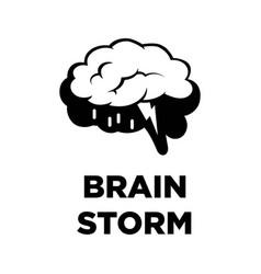 Brain storm creative icon smart intelligence vector