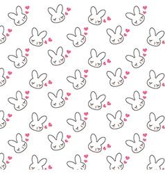 bunny pattern vector image
