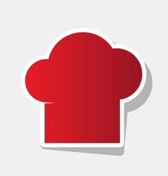 chef cap sign new year reddish icon with vector image