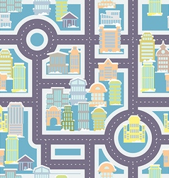 City street seamless pattern public buildings and vector