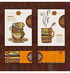 Corporate identity Menu Cup of coffee vector image