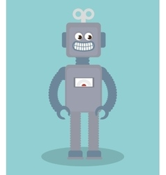Cute robot toy icon vector