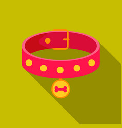 Dog collar icon in flat style for web vector