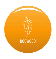 Dogwood leaf icon orange vector