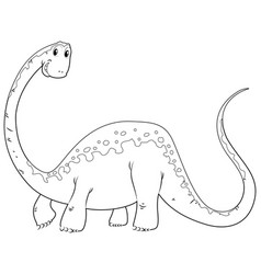 Doodles drafting animal for cute dinosaur vector