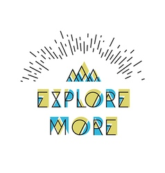 Explore More Abstract Icon Wilderness typography vector image