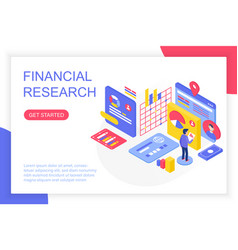 financial management research business solution vector image