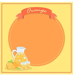 Fresh Orange Juice Banner Notes vector