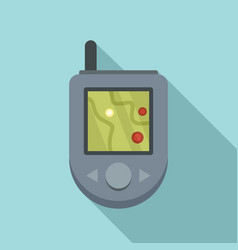 gps device icon flat style vector image