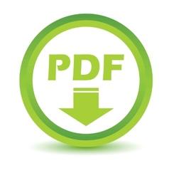 Green Pdf icon vector
